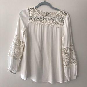 Joie Silk Long Sleeve Top, XS